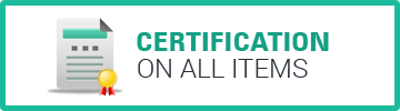Certification on all Items